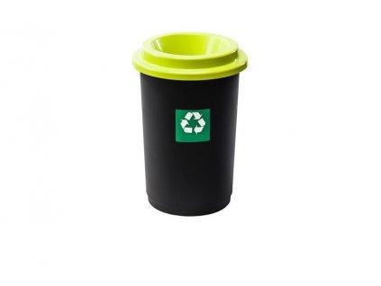 Odpadkový koš plastový ECO BIN 50 L - zelené víko