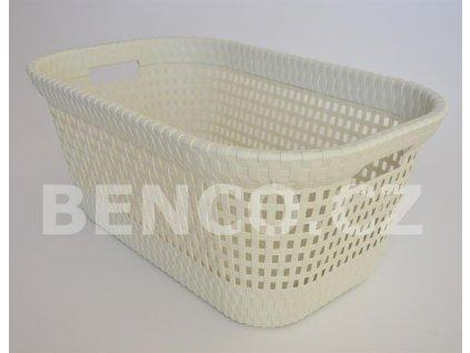 Koš na čisté prádlo RATTAN 45 L - vanilka
