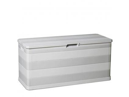 Zahradní úložný box na nářadí a polstry ELEGANCE 280 L - barva šedá