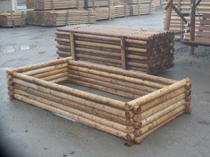 Vyvýšený záhon dřevěný 100 x 40 x 250 cm