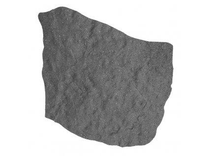 Gumový zahradní nášlapný kámen - barva šedá