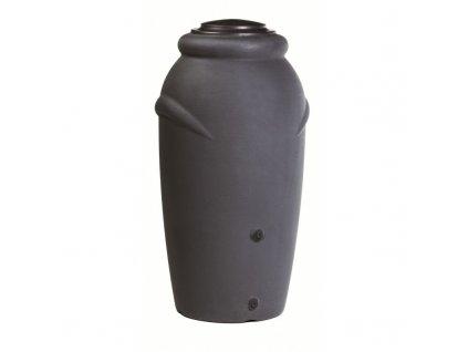Nádoba na dešťovou vodu AMFORA BABY 210 litrů - barva antracitová (černošedá)