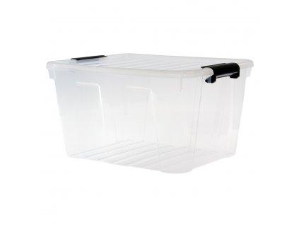 Úložný box s průhledným víkem 30 L