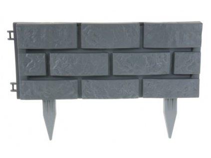 Zahradní obrubník 2,2 m - plastový kámen barva: šedá