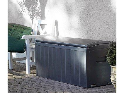 Zahradní úložný box MAXI na nářadí a polstry 415 L