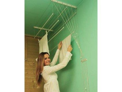 BENCO Stropní sušák na prádlo IDEAL 6 tyčí 120 cm