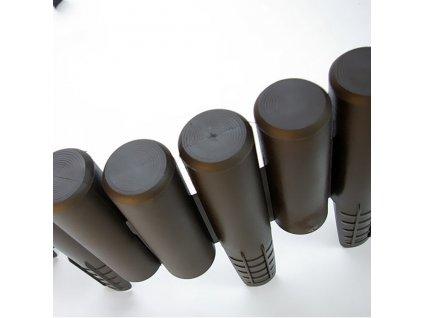 Plastová palisáda kolíková 2,8 m - barva hnědá