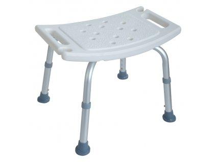 Stolička do sprchy nastavitelná 38 - 57 x 50 x 30 cm