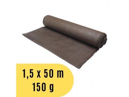 Stínící tkanina 1,5 x 50 m, 150 g / m2 - hnědá