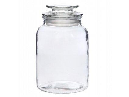 Dóza na potraviny skleněná - hladká - velikost 1,4 L