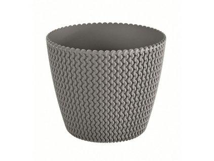 Květináč plastový SPLOFY průměr 19 cm - barva šedá (405U)