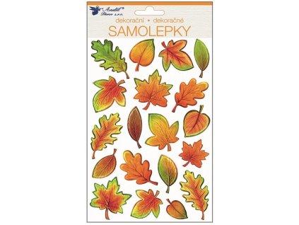 Samolepky plastické 25x14 cm, podzimní listí