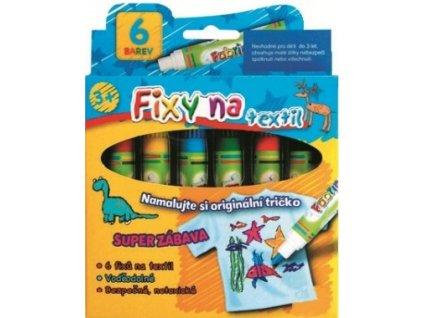 Fixy na textil 6 odstínů
