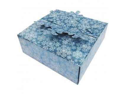 Krabička skládací dárková modrá 15x15x5 cm