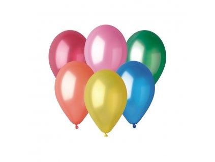 Balónky metalické, 26 cm, 10 ks v balení, mix barev