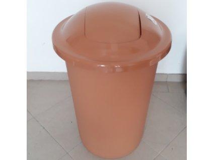 Odpadkový koš plastový TOP BIN 50 L - barva hnědá