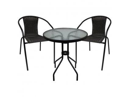 Sada zahradního nábytku stůl + 2 židle