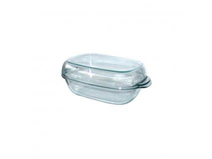 SIMAX skleněný pekáč hranatý se skleněnou poklicí - obsah 8 litrů, 40 x 12 cm