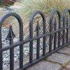 Zahradní plůtek, plast - imitace kovaný plot 2,3 m - barva černá
