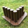 Plastová palisáda BENCO s pojezdem, výška 18 cm, balení 1 m - barva hnědá