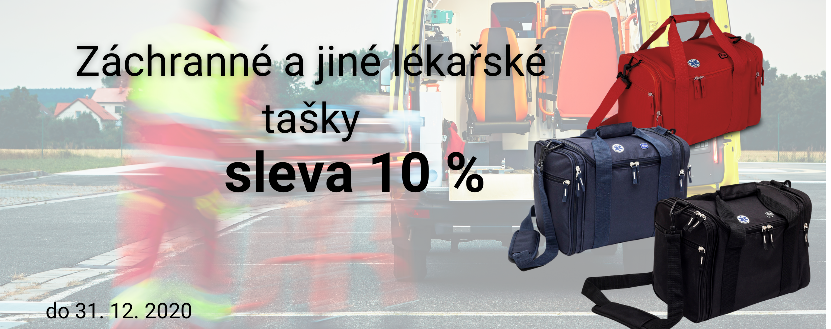 Záchranné a lékařské tašky se slevou 10%