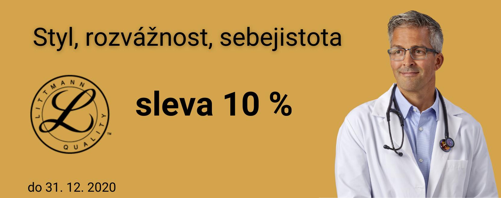 Sleva 10 % na stetoskopy Littmann