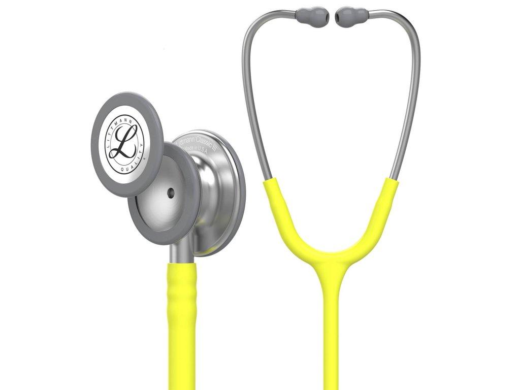 Stetoskop Littmann Classic III - limetková žlutá  + záruční a pozáruční servis