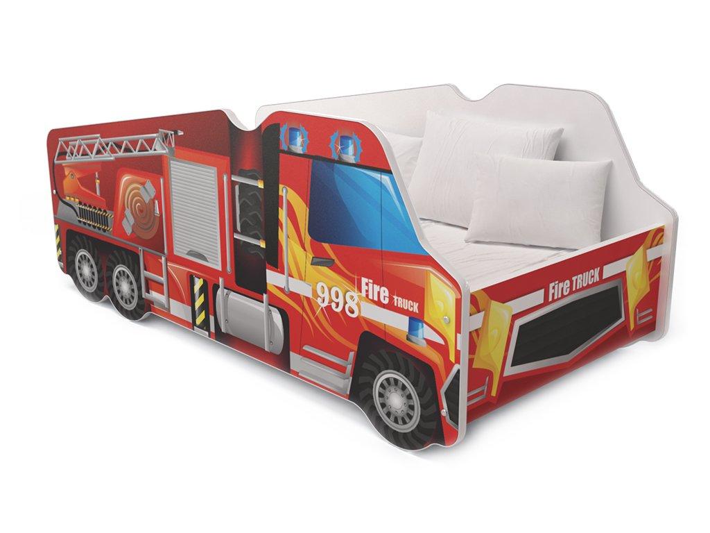 Lorry 1. Tűzoltóautó 140x70 ágyak fiúknak