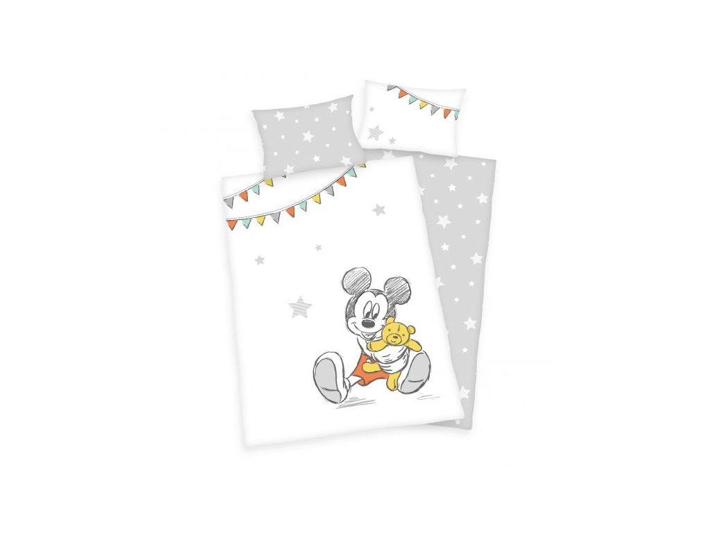 Pamut gyerek ágyneműhuzat 100x135+40x60 - Mickey Mouse