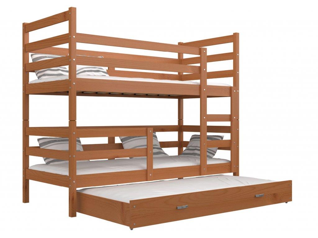 János 3 emeletes ágy három személynek éger 190x80