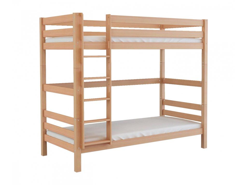 Oliver 2 200X90 Bükk minőségi emeletes ágy