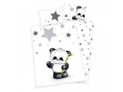 Pamut gyerek ágyneműhuzat 100x135+40x60 - Kis panda