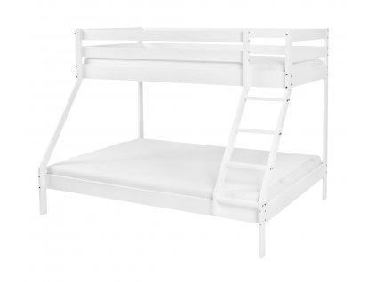 Mikael Fehér 140x200 emeletes ágy kiszélesített alsó fekhellyel