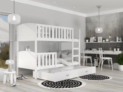Tami Biela MDF poschodová posteľ 190x80