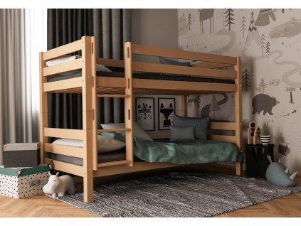 Oliver 200X90 Bükk minőségi emeletes ágy