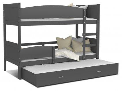 SWING 3 emeletes ágy pótággyal 190x80 GRAFIT