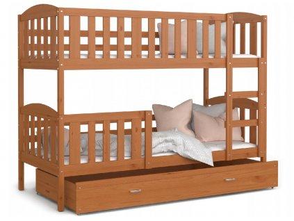 Lukács 190x80 éger emeletes ágy
