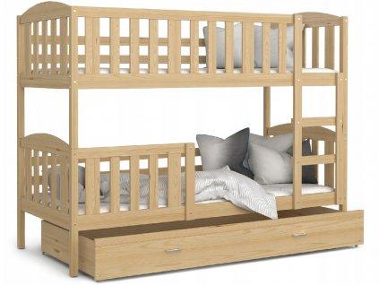 Lukács 190x80 borovi fenyő emeletes ágy