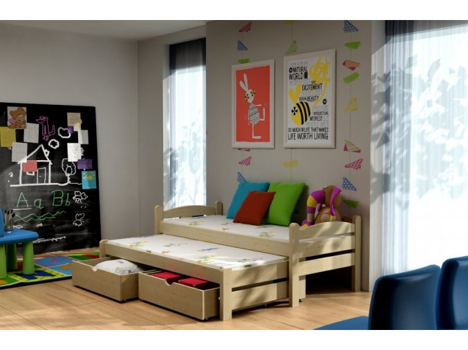Veronika 10 200x90 ágy pótággyal