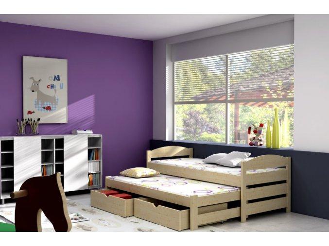 Veronika 9 180x80 ágy pótággyal
