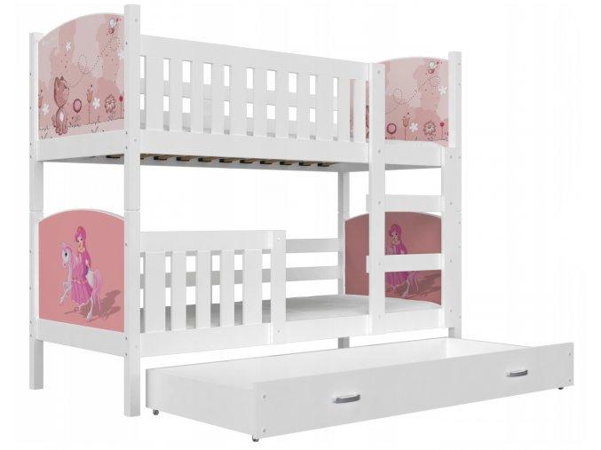 Dobby 190x80 Fehér emeletes gyerekágyak