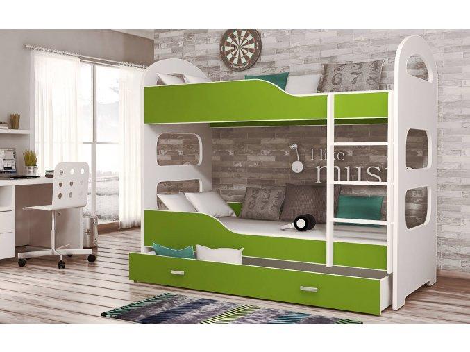 Patrik 160x80 Zöld emeletes ágy