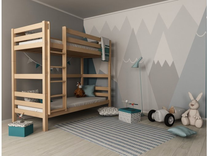 Oliver 2 200X90 bükk emeletes ágyak