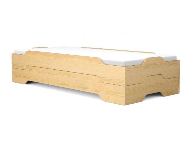 Rozkladacia posteľ Mia Natur 200x90