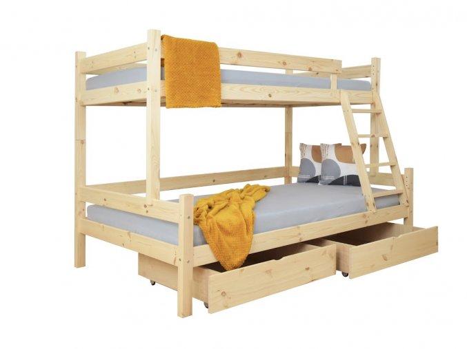 Petra 6 200x120x90 Poschodová posteľ s rozšíreným spodným lôžkom