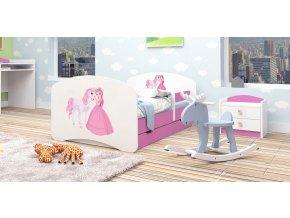 Gyerekágy Happy rózsaszín 160x80  25 minta választék