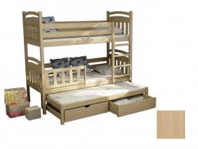 Petra 1 180x80 háromszemélyes emeletes ágy