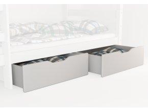 Úložný box pod posteľ biely