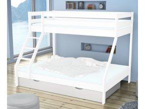 Tároló rekesz Mikael – fehér ágyhoz