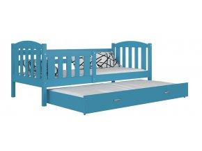 Lukács P2 modrá posteľ s prístelkou 190x80
